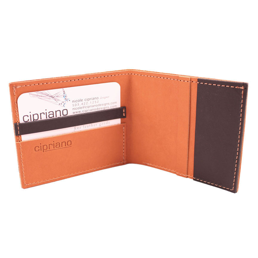 Finley Billfold in Golden Brown Leather