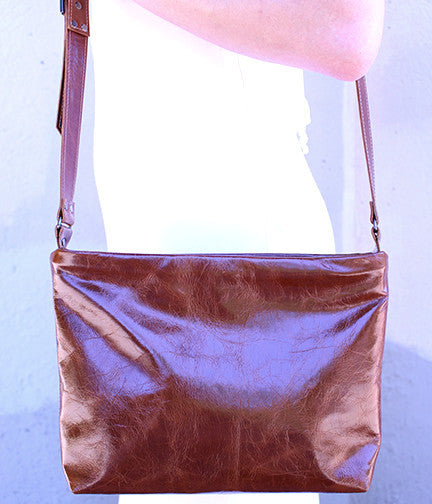 Nakita Crossbody Bag in Brown Leather