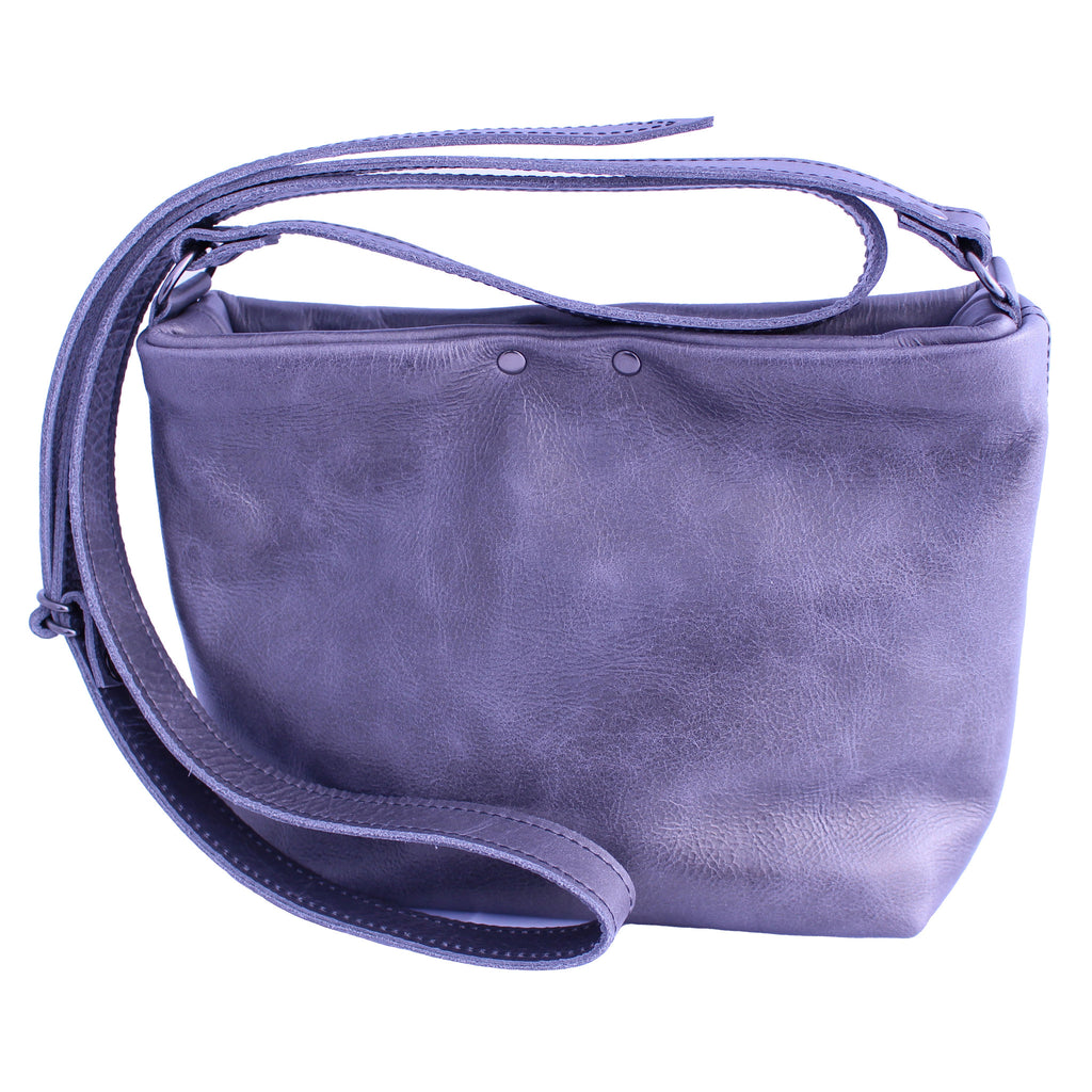 Aleks Crossbody in Pewter Leather - Limited Edition
