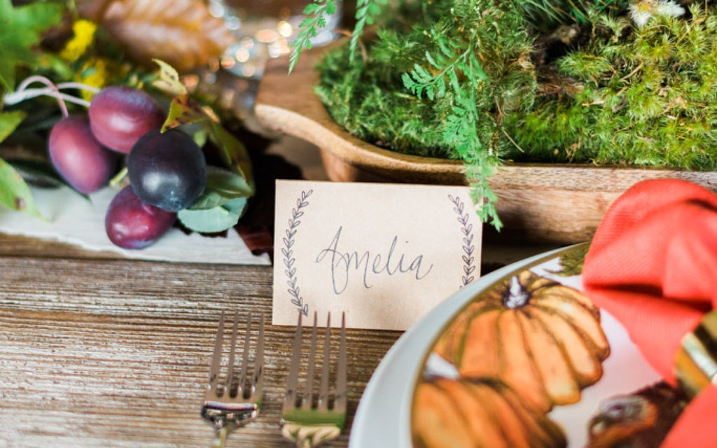 END-OF-FALL PARTY THANKSGIVING WOOD PLATTER CENTERPIECE DIY WITH POTTERY BARN + WHITEWOOD EVENTS