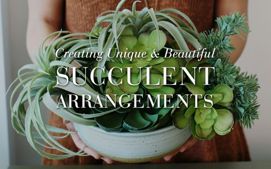 How To: HOW TO CREATE UNIQUE & BEAUTIFUL SUCCULENT ARRANGEMENTS WITH POTTERY BARN