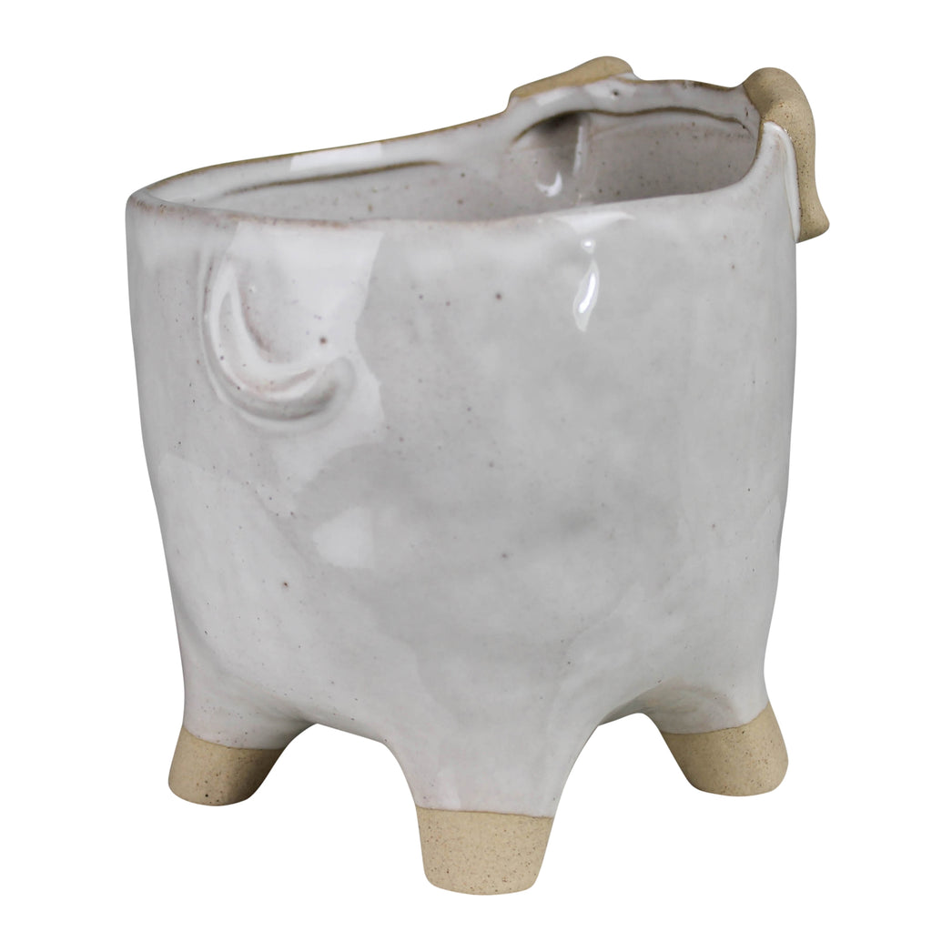 Ceramic Dog Container For Flowers & Plant Home and Garden Decor by Colonial House of Flowers in Atlanta, Georgia