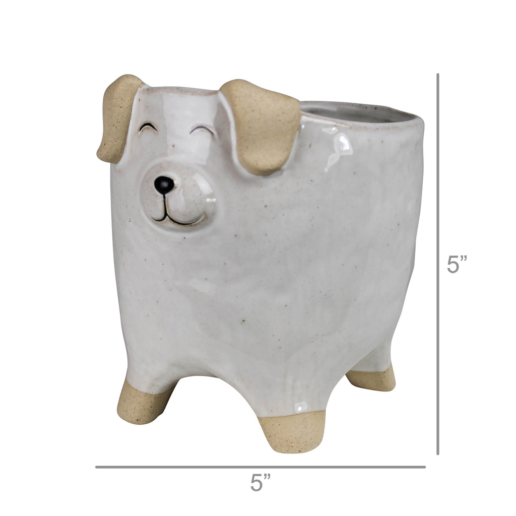 Ceramic Pet Dog Container For Flowers & Plant Home and Garden Decor by Colonial House of Flowers in Atlanta, Georgia