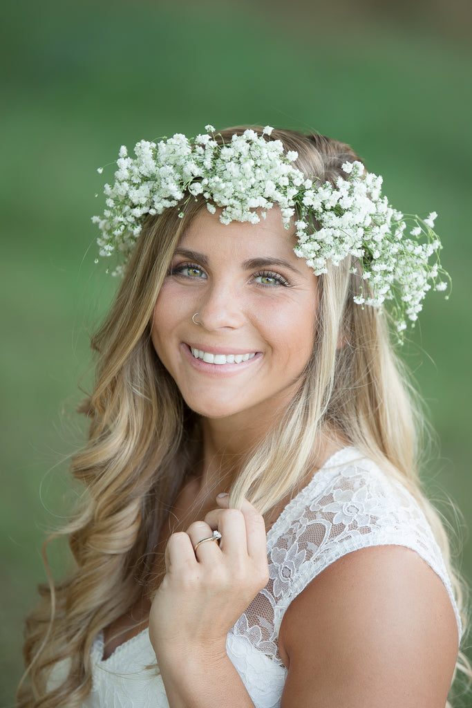 Baby's Breath Organic Fine Art Floral Flower Crown Inspiration by Colonial House of Flowers
