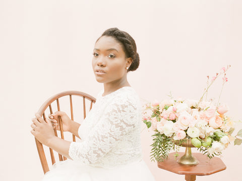 Black Bride Organic Floral Inspiration Colonial House of Flowers