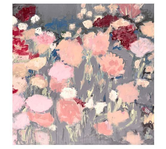 Floral Sorbet Wall Art in Pottery Barn Collection by Carol Christie