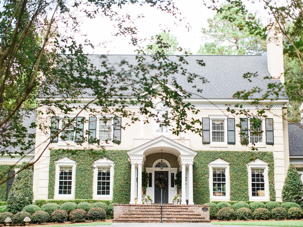 Southern Home in Georgia with Fabulous Front Door Decor by Colonial House of Flowers
