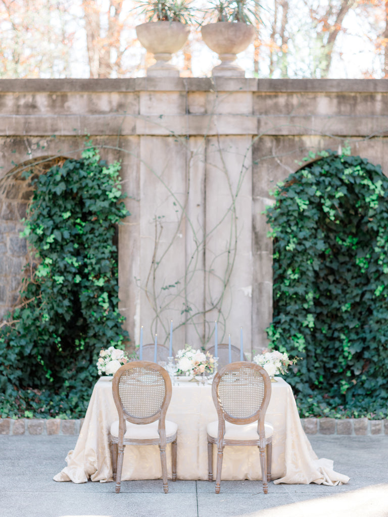 Table Setting At Swan House in Atlanta By Colonial House of Flowers