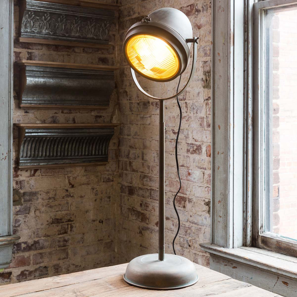 Tall Salvaged Headlight Lamp LIghting for Home Decor by Colonial House of Flowers