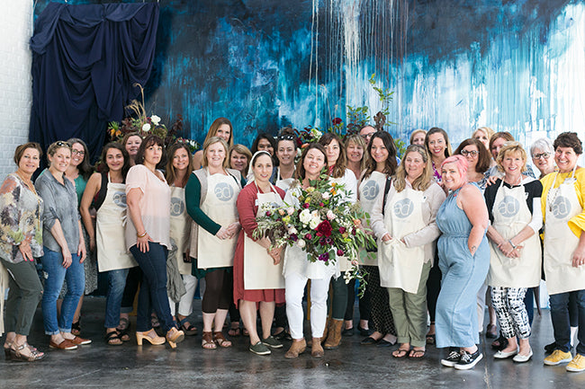 Best Floral Workshop in Atlanta by Colonial House of Flowers with Mayesh at Accent Decor | Group Photo with Christy Hulsey