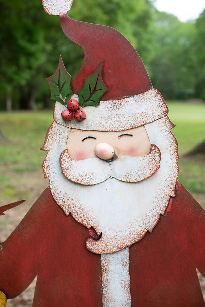 Red-White-Santa-Metal-Yard-Decoration-for-Christmas-and-Holidays-by-Colonial-House-of-flowers-atlanta
