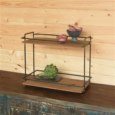 Wood and Metal Plant Stand