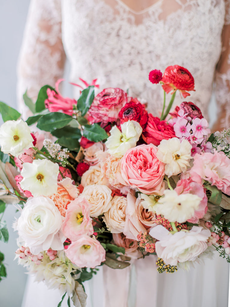 Luxury Garden Style Pink Blush White Flower Bouquet in Colonial House of Flowers 1 Day Private Flower Workshop