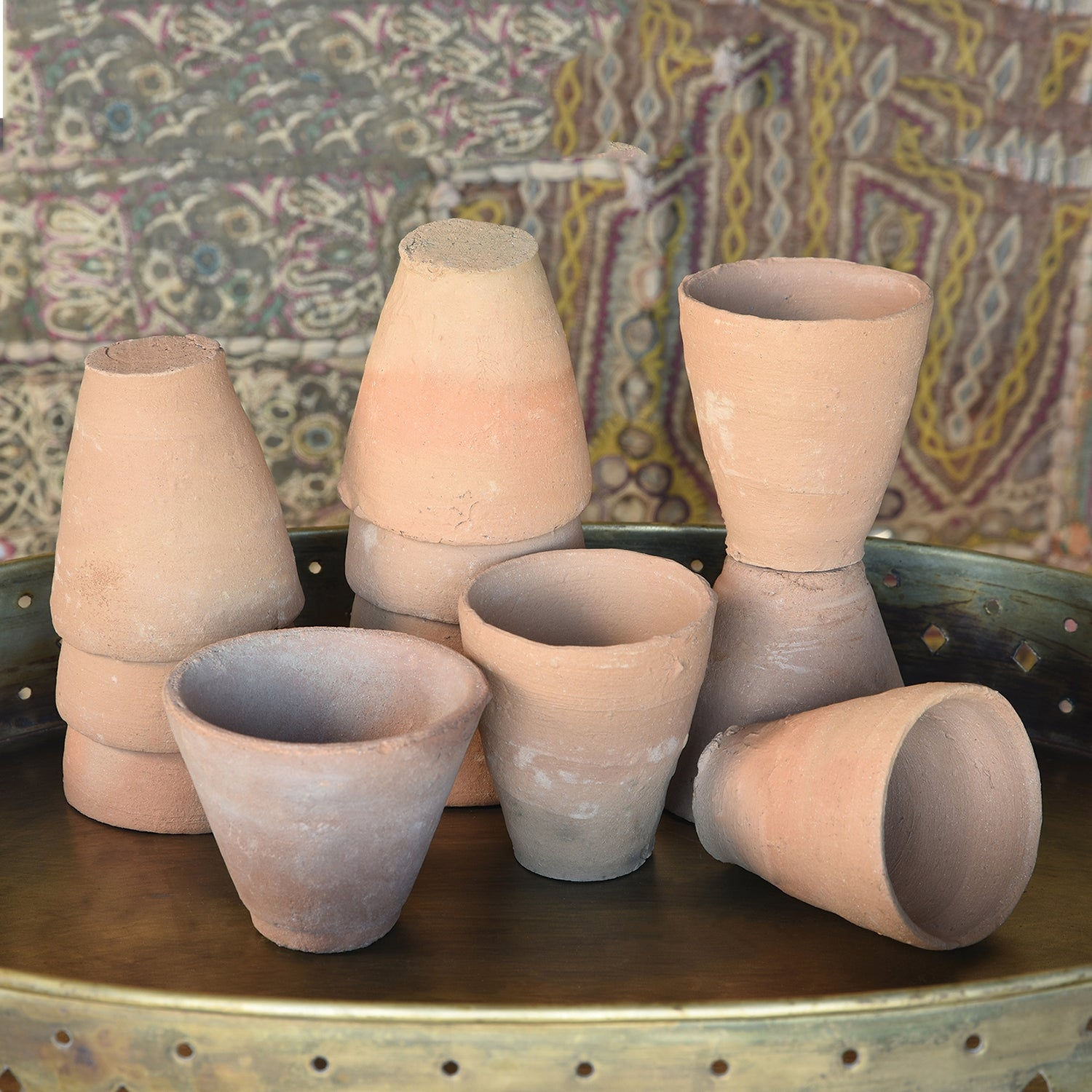 Terra Cotta Cups, Set of 24