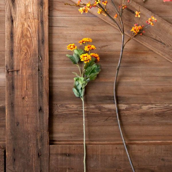 Faux Chrysanthemum Stem, Set of 12