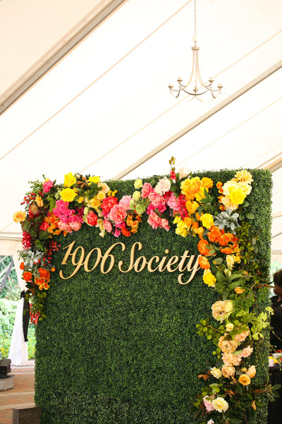 Boxwood Hedge Wall Event Rental Colonial House Of Flowers