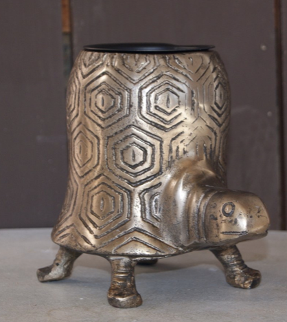 Tommie Turtle Aluminum Metal Pot - Colonial House of Flowers | bespoke floral design + online shop | Atlanta, Georgia