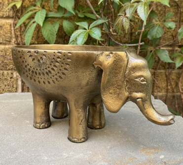 Ezzie Elephant Pot Colonial House of Flowers Atlanta Plants Vases Containers Florist Weddings Events Georgia Southern South