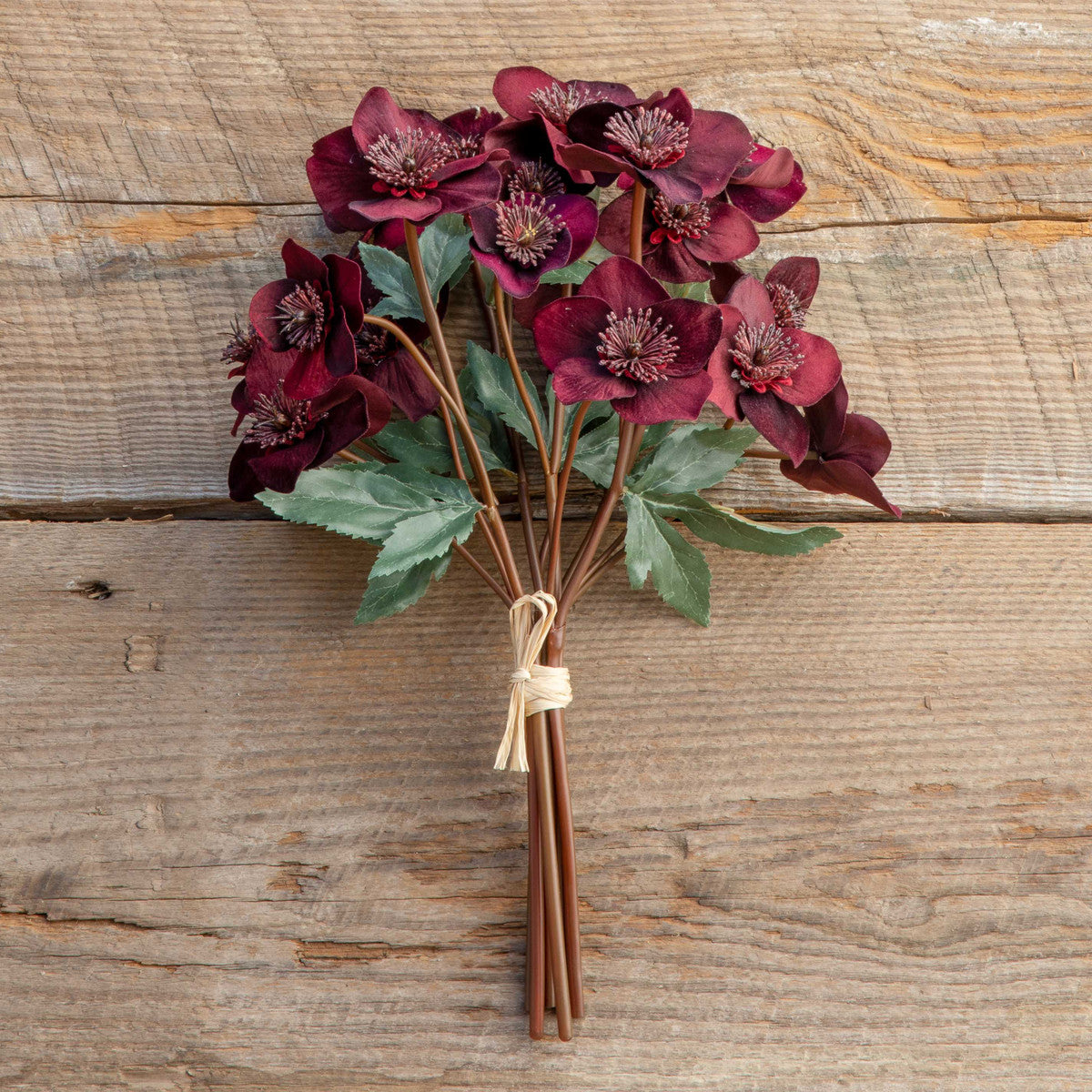 FAUX Velvet Hellebores Bundle, Maroon - Colonial House of Flowers | bespoke floral design + online shop | Atlanta, Georgia