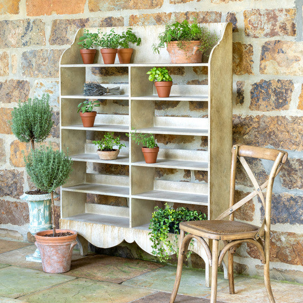Painted Garden Pot Display Shelf | FREE SHIPPING Colonial House of Flowers Atlanta Plants Vases Containers Florist Weddings Events Georgia Southern South