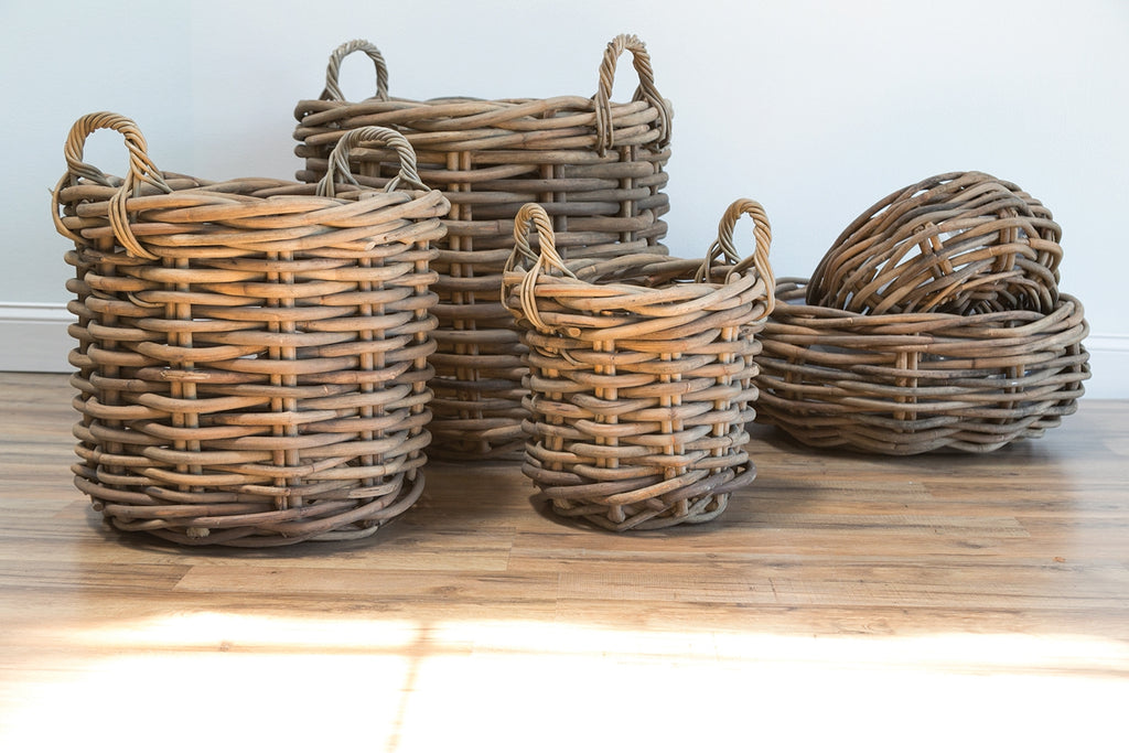 Cabana Collection Ratan Woven Wood Basket & Bowl Colonial House of Flowers Atlanta Plants Vases Containers Florist Weddings Events Georgia Southern South
