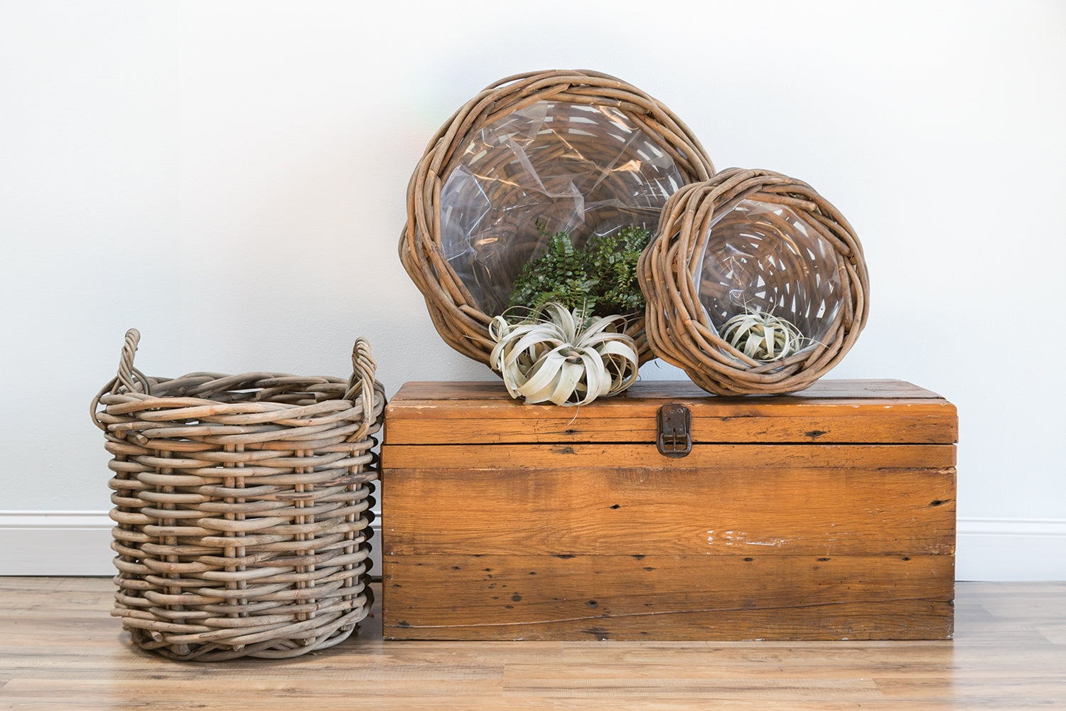 Cabana Collection Ratan Woven Basket+ Bowl by Accent Decor Colonial House of Flowers Atlanta Plants Vases Containers Florist Weddings Events Georgia Southern South