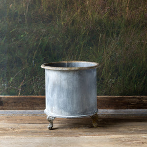 Footed Creamery Tank Metal Planter Colonial House of Flowers Atlanta Plants Vases Containers Florist Weddings Events Georgia Southern South