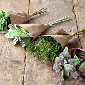 Faux Wrapped Herb Bundle, Set of 4 Colonial House of Flowers Atlanta Plants Vases Containers Florist Weddings Events Georgia Southern South