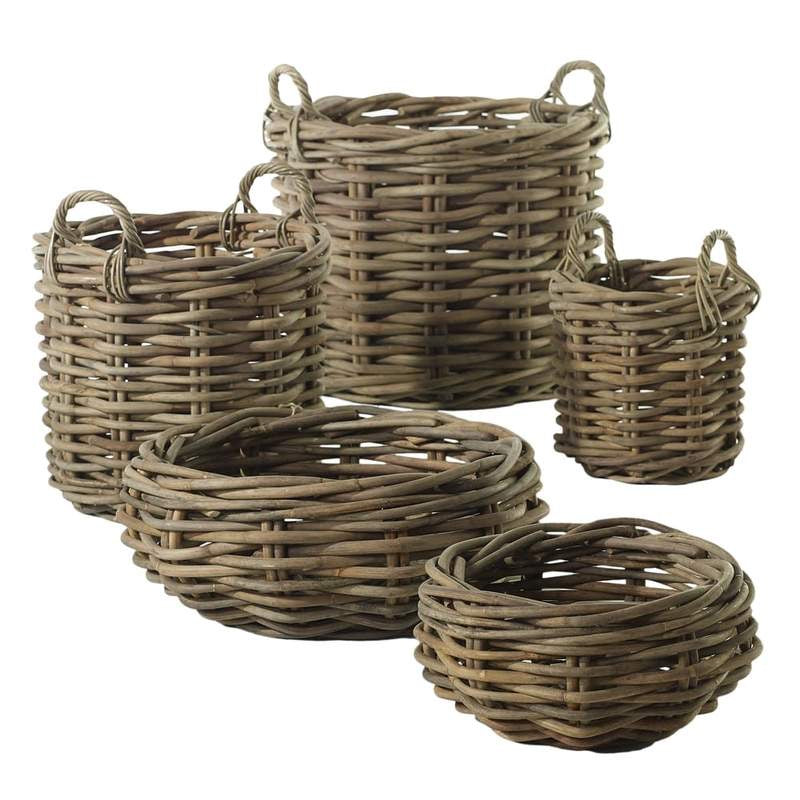 Cabana Collection Ratan Woven Wood Basket & Bowl - Colonial House of Flowers | Atlanta