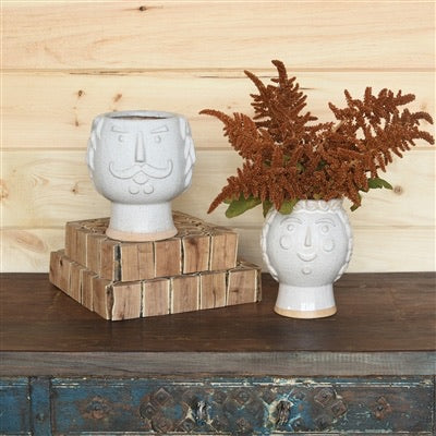 Duke + Duchess, White Ceramic Cachepot - Colonial House of Flowers | bespoke floral design + online shop | Atlanta, Georgia