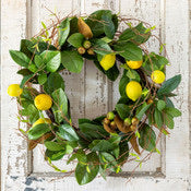 Lemon & Magnolia Leaf Wreath - Colonial House of Flowers | bespoke floral design + online shop | Atlanta, Georgia