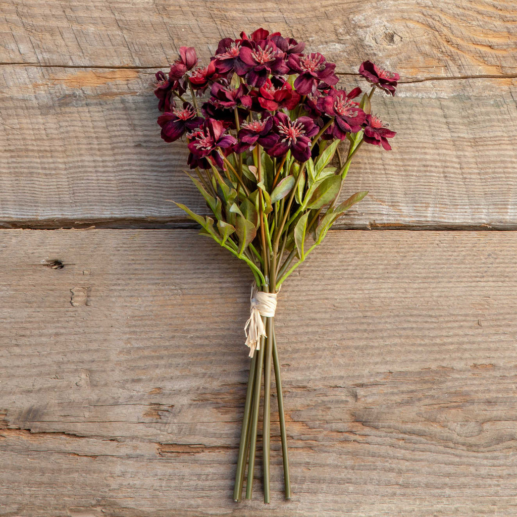 FAUX Velvet Cosmos Bundle, Burgundy Colonial House of Flowers Atlanta Plants Vases Containers Florist Weddings Events Georgia Southern South