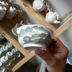 Olivia in Jingdezhen Factory with Artists