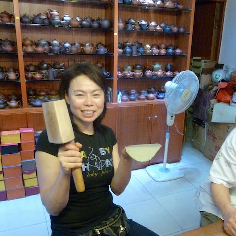 Olivia at Yixing Terracotta Teapot Factory