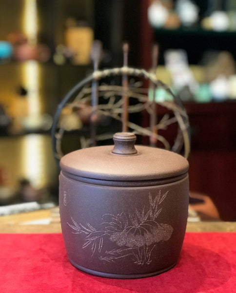 Terracotta Tea Canister (Caddy) - bucket shape