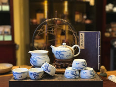 Jingdezhen Hand Painted Into The Fall Tea Set 9 pieces
