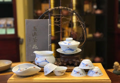 Cheery Blossom Gaiwan Tea Set 10 Pieces Set