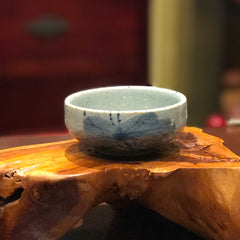 Hand Painted Celadon Cups