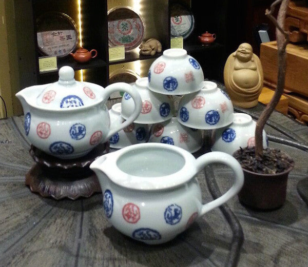 Teaware Feature Special Offer - Porcelain 9 piece Teaset