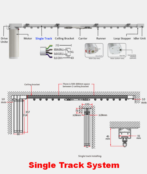 lutron wiring diagrams curtain call automated drapery tracks  120 volt  cl 920c6  curtain call automated drapery tracks  120 volt  cl 920c6