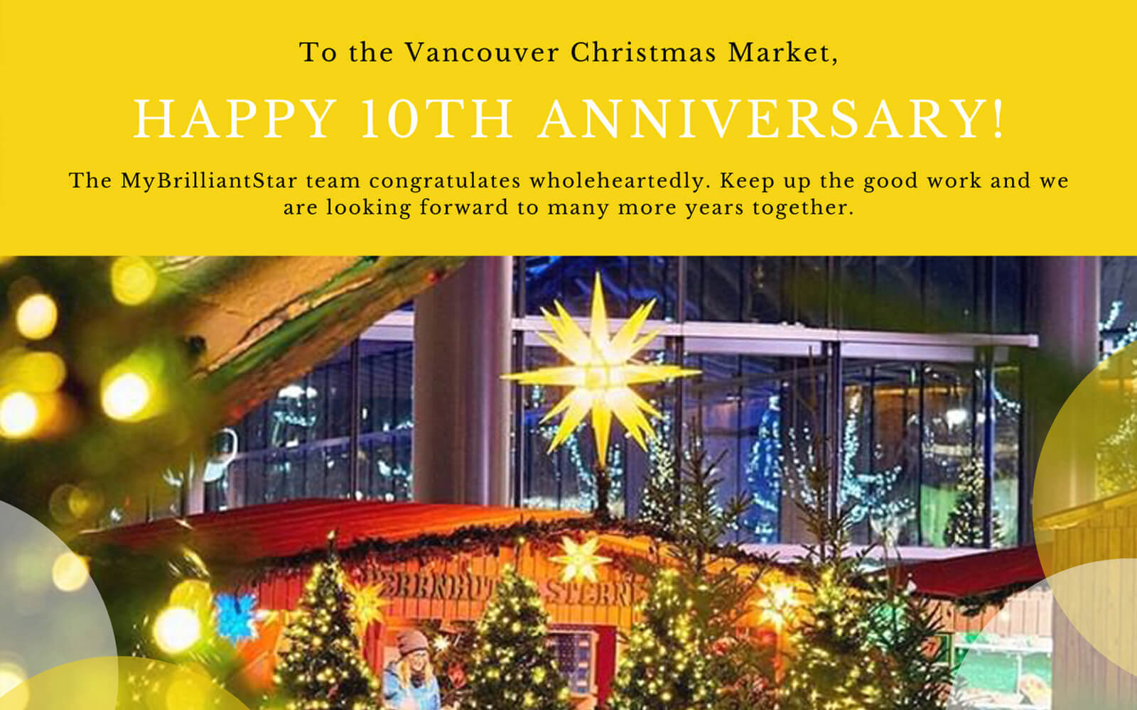 10 YEARS VANCOUVER CHRISTMAS MARKET