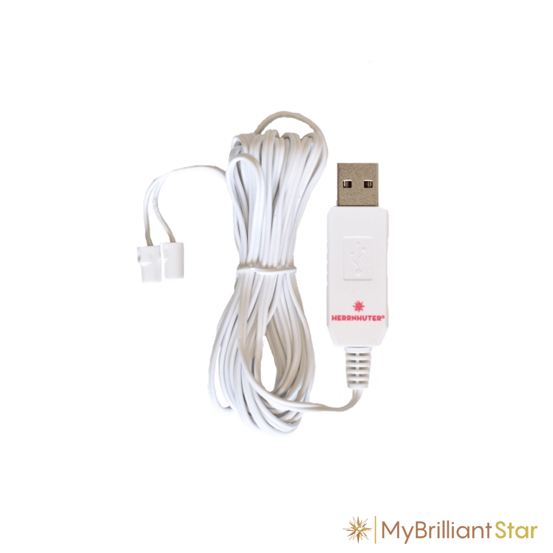 USB cable for plastic star ~ 13 cm / 5 inch ø