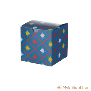 Box for Original Herrnhut plastic star, blue, ~ 13 cm / 5 inch ø