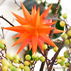 Original Herrnhut plastic star, ORANGE (Special Edition 2016), ~ 13 cm / 5 inch ø