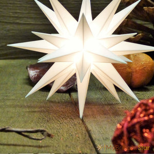 DIY Kit - Original Herrnhut plastic star, assorted colours, ~ 13 cm / 5 inch ø - conventional bulb