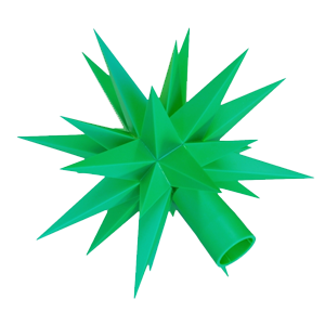 Spare star for plastic star chain ~ 13 cm / 5 inch ø, green
