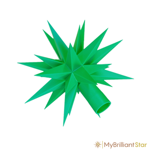 Star of Original Herrnhut plastic star chain, green, ~ 12 m / 470 inch length