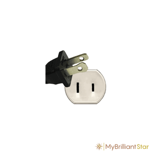Plug of Original Herrnhut plastic star chain, yellow, ~ 12 m / 470 inch length