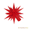 Star of Original Herrnhut plastic star chain, red, ~ 12 m / 470 inch length