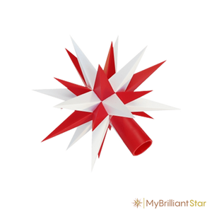 Star of Original Herrnhut plastic star chain, white / red, ~ 12 m / 470 inch length
